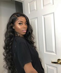 weave hairstyles Body Wave Free Part Inch Lace Frontal Wig Human Hair Wig With Baby Hair Baddie Hairstyles, Sew In Hairstyles, Long Weave Hairstyles, Birthday Hairstyles, Black Girl Prom Hairstyles, Fashion Hairstyles, Wedding Hairstyles, Hairstyles For Black Women, Latina Hairstyles