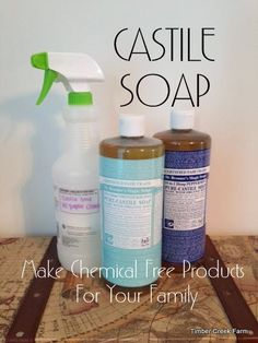 Our family decided to use a lot less chemicals in our personal care products. Castile soap is the basis for most of the soaps, lotions and shampoos we use.