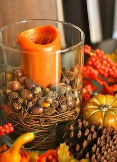 Fall Craft Ideas | 22 Fall Crafts, Table Decorations and Centerpieces Beautified with ...
