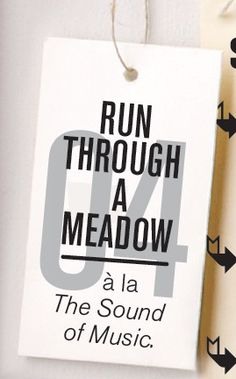 #4 on the 2012 Summer Bucket List: Run through a meadow, Wholeliving.com    What's on yours?