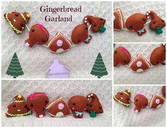 Felt Gingerbread Garland  Ready To Buy by HarveyshouseCrafts