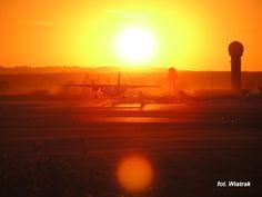 #gdansk #airport #sunset; photo: Tomasz Wartak