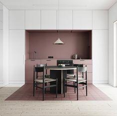 How to arrange an open space Small Interior design Interior Minimalista, Küchen Design, Layout Design, House Design, Wall Design, Store Design, Interior Design Kitchen, Kitchen Decor, Interior Decorating