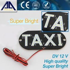 Car styling taxi libre LED Taxi Light Parking Light DC 12V Car indicator lamp LED working lights source Free Shipping