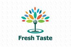 Fresh Taste - $370 (negotiable) http://www.stronglogos.com/product/fresh-taste #logo #design #sale #restaurant #food #event #catering #blog
