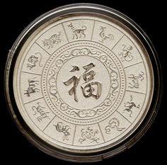 Numismática - Horóscopo chines - ano do cavalo, 80 - 50mm - linda.