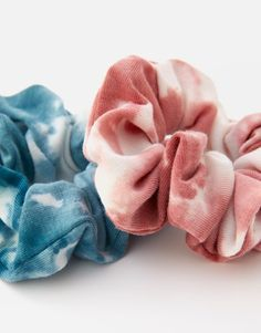 Pack of 2 tie-dye scrunchies - pull&bear