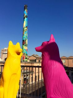 New meets old | Cracking Art animals visit Branca Museum in Milan.  Photo by @kiccocracking