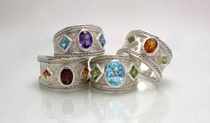 Silver Byzantine rings by Kevin Cremin from the UK. Exhibited at the Avenue Gallery in Victoria, B.C. 10/19/15