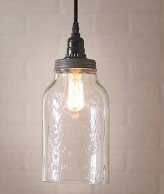 Horlics Jar Pendant Light