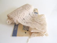 Vintage Ivory Lace 3.5 Yards Wedding Sewing by RollingHillsVintage