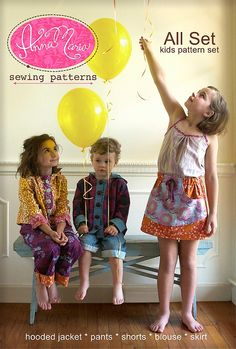 Alas, my kids have outgrown the sizing in this new Anna Maria Horner pattern set. But HOW CUTE???