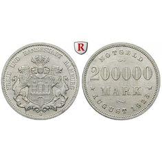 Nebengebiete, Hamburg, 1/2 Million Mark 1923, J, st, J. N34: Aluminium-1/2 Million Mark 1923 J. J. N34; stempelfrisch… #coins #numismatics