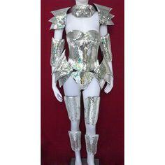 Robot Roman Warrior Lady Gaga Man Woman Mirror Costume by DaNeeNa Kiss Costume, Crow Costume, Lady Gaga Costume, Stilt Costume, Warrior Costume, Space Costumes, Robot Costumes, Carnival Costumes, Girl Costumes