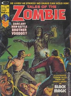 TALES OF THE ZOMBIE 10, BRONZE AGE MARVEL COMIC MAGAZINE