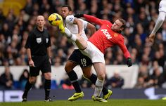 Credit: The Guardian/Tom Jenkins Rooney tries to get the better of Dembele