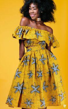 the TITO midi skirt in yellow