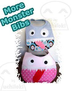 By Uchiloki: More Monster Bibs