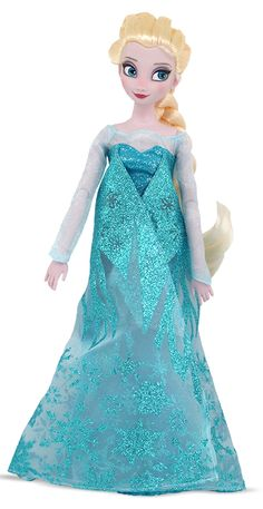 "Own an Elsa of your very own with this beautiful fashion doll from ""Frozen."" Standing 12'' tall and decked out in her signature blue dress, this doll is if a perfect keepsake for any ""Frozen"" fan. You'll never want to let her go."