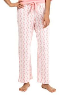 Nautica  Diamond Ribbon Waist Ankle Pant