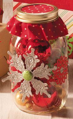 Snowflake Ornament Mason Jar | DIY Jar Gift Idea from @joannstores