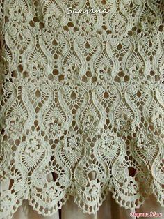 Crochet : See How Diversities Of Crochet - Diy Crafts - Marecipe Crochet Cardigan Pattern, Crochet Shirt, Crochet Motif, Crochet Doilies, Crochet Flowers, Crochet Lace, Lace Patterns, Knitting Patterns, Crochet Patterns