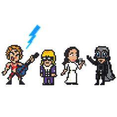 8-Bit Phantom of the Paradise characters: Beef, Swan, Phoenix, and Winslow
