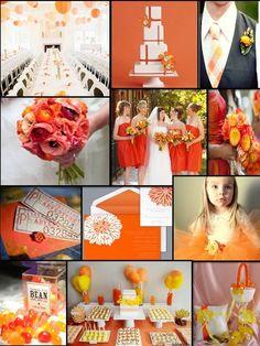 An English Rose, Luxury Lifestyle Weddings - Tangerine, Orange, and Yellow Wedding
