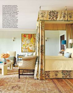 Home Couture Lorraine canopy bed by Carrier and Company as seen in Architectural Digest June 2014