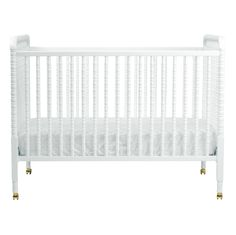Classic White Jenny Lind Crib - we love the way this crib can work in almost any nursery style, plus the white finish is SO classic!