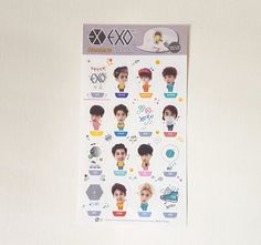 EXO K-POP STANDING STICKER SPECIAL LIMUTED ITEM EXO *NEW*(VER.2)
