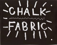 Chalk Fabric Black