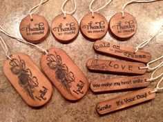 10 Rustic Wood  Gift Tag Favour Wishing Tag memory by Paper2Roses