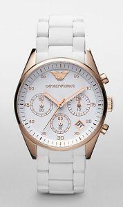 931f3669162 Relogio Emporio Armani Branco AR5920 Relógio Bonito