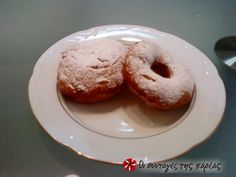 Bomboloni #sintagespareas Crepes And Waffles, Pancakes, Recipe Images, Croissants, Greek Recipes, Pretzel, Doughnut, Donuts, Muffin