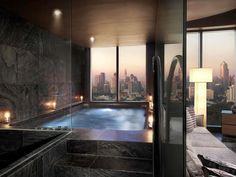 Dream House Interior, Luxury Homes Dream Houses, Dream Home Design, Modern House Design, Luxury Interior, Interior Design, Dream Bathrooms, Dream Rooms, Apartamento New York