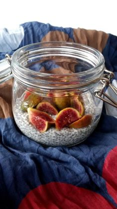 Chia Puding, Mason Jars, Food And Drink, Foods, Food Food, Food Items, Mason Jar, Glass Jars, Jars