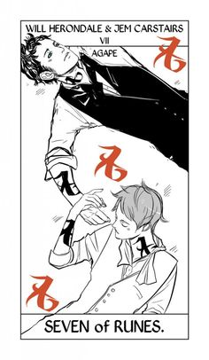 Drawn by Cassandra Jean ... tarot card, james 'jem' carstairs, the infernal devices, william 'will' herondale