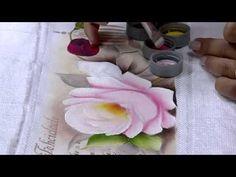 Mulher.com 19/03/2015 Ana Laura Rodrigues - Pintura em toalha rosas Parte 2/2 - YouTube