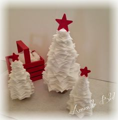 Stacked Felt Christmas Trees