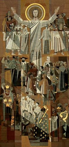 """Word of Life"" Mosaic at Library Building of Notre Dame University, Notre Dame, Indiana ...aka Touchdown Jesus"