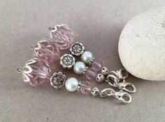 Crystal flower girl charm Pink wedding favor It's a by LucKeyMe