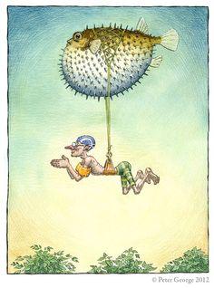 """""""Soprador"""" de Peter George - Ilustração de"""