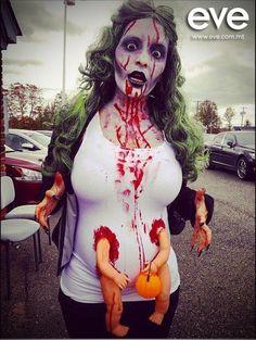pregnant zombie #evemalta #halloween #makeup