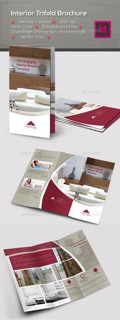 Interior Trifold Brochure Template #design #broschüre Download: http://graphicriver.net/item/interior-trifold-brochure-template/12268608?ref=ksioks