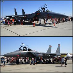 USAF F-15E Strike Eagles of 366th Fighter Wing based at Mountain Home Gunfighter Skies 2014