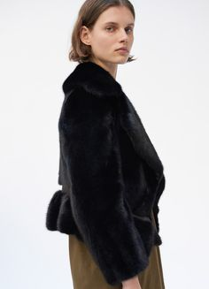Short jacket in mink fur - Fall / Winter Runway 2017 | CÉLINE