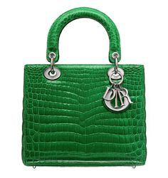 Lady Dior Hand Bag - in emerald or kelly green2