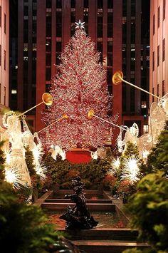 Rockefeller Plaza, Christmas time in New York. Love NYC at Christmas time! Christmas In The City, New York Christmas, All Things Christmas, Winter Christmas, Christmas Lights, Christmas Holidays, Merry Christmas, Christmas Decorations, Christmas Photos