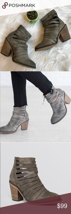 Free People gray weaved booties NEVER WORN!  ⚡️NO trades  ⚡️open to ALL offers!  ⚡️ bundle for MAJOR discounts!  ⚡️feel free to ask any questions ⚡️ I will not respond to offers in the comments, please use the offer button for all offers.  ⚡️Please only ask for model photos if you are very interested! Free People Shoes Ankle Boots & Booties